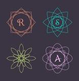 Monogram design elements, graceful template. Calligraphic elegant line art logo design. Stock Image