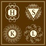 Monogram design elements, graceful template. Calligraphic elegant line art logo design. Letter emblem B, S, K, L for Royalty, busi Royalty Free Stock Photo