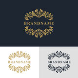 Monogram design elements, graceful template. Calligraphic elegant line art logo design. Letter emblem sign for Royalty. Vector illustration of Monogram design Royalty Free Stock Image