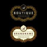 Monogram design elements, graceful template. Calligraphic Elegant line art logo design Stock Images