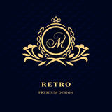Monogram design elements, graceful template. Calligraphic Elegant line art logo design  Stock Photo