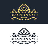 Monogram design elements, graceful template. Calligraphic Elegant line art logo design  Royalty Free Stock Photo