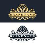 Monogram design elements, graceful template. Calligraphic Elegant line art logo design  Stock Photos