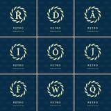 Monogram design elements, graceful template. Calligraphic elegant line art logo design. Stock Photo