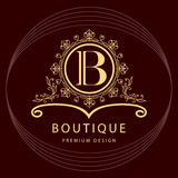 Monogram design elements, graceful template. Elegant line art logo design. Business sign, identity for Restaurant, Royalty. Vector illustration of Monogram stock illustration