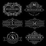 Monogram design elements, graceful template. Elegant line art logo design. Business sign, identity for Restaurant, Royalty, Boutiq Stock Image