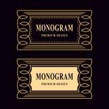 Monogram design elements, graceful template. Luxury vintage frame. Calligraphic elegant line art logo design Stock Photo