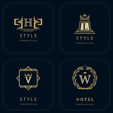 Monogram design elements, graceful template Royalty Free Stock Image