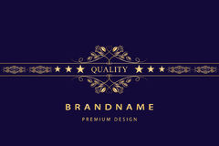 Monogram design elements, graceful template Royalty Free Stock Photography
