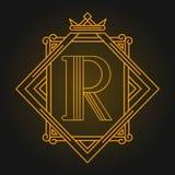 Monogram design elements, graceful template. Vector illustration royalty free illustration