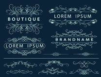 Monogram design elements, graceful template Stock Photo