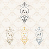 Monogram design elements. Vector emblems for logos and ornamental design Royalty Free Stock Image