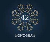 Monogram Design Template with Letter Vector Illustration Premium Stock Image