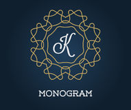 Monogram Design Template with Letter Vector Illustration Premium Stock Photo