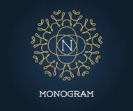 Monogram Design Template with Letter Vector Illustration Premium Stock Photos