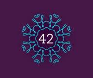 Monogram Design Template with Number in Vector. Premium Elegant Royalty Free Stock Photos