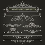 Template monogram. The past. Ornament. Templates vintage elements on a black background. royalty free illustration