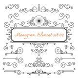 Monogram flourish swirl for design Stock Images