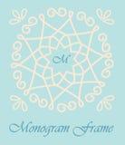 Monogram frame Stock Photo
