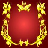 Monogram gold Stock Image