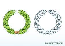 Monogram initials. Laurel wreath. Empty space for text. stock illustration