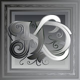 Monogram k, d Royalty Free Stock Images