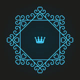 Monogram logo design Stock Photo