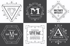 Monogram logo template with flourishes calligraphic elegant ornament elements. royalty free illustration