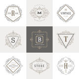 Monogram logo template Stock Photos
