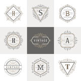 Monogram logo template Royalty Free Stock Images