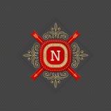 Monogram logo template royalty free illustration