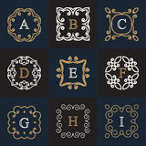 Monogram logo template vector illustration