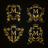 Monogram Logos Set Royalty Free Stock Image
