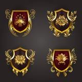 Monogram Logos Set Royalty Free Stock Images