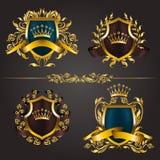 Monogram Logos Set Stock Photos