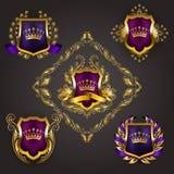 Monogram Logos Set Royalty Free Stock Photo