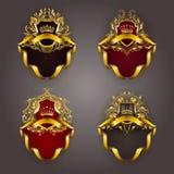 Monogram Logos Set Royalty Free Stock Photography