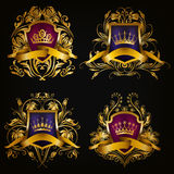 Monogram Logos Set royalty free stock photography