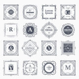 Monogram luxury  template Royalty Free Stock Photography