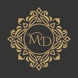 The monogram from royalty free illustration