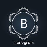 Monogram  retro vintage background frame design Stock Photography