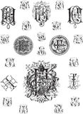Monogram set three Royalty Free Stock Photo
