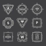 Monogram  template Royalty Free Stock Photo