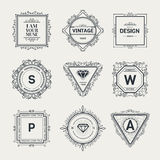 Monogram  template Royalty Free Stock Images