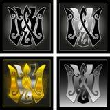 Monogram v, w Royalty Free Stock Images