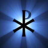 Monogram van de lichte gloed van Christus Royalty-vrije Stock Afbeeldingen