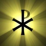 Monogram van de lichte gloed van Christus Stock Afbeelding