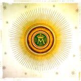 Monogram van Maagdelijke Mary royalty-vrije stock fotografie