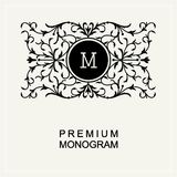 Monograma à moda, linha logotipo Art Nouveau da arte ilustração royalty free