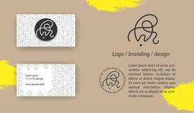 Monograma creativo - muestra dibujada mano de la caligrafía Puede ser utilizado como logotipo foto de archivo libre de regalías